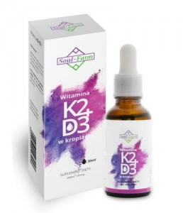 Witaminy K2+D3 w kroplach 30 ml  Soul-Farm